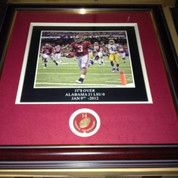 "ALABAMA CRIMSON TIDE FRAMED ART PICTURE "" Its Over "" Alabama 21 LSU 0"