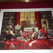 "ALABAMA CRIMSON TIDE FRAMED ART PICTURE LARGE 15.5""x17"" ""TIDE TRADITIONS """