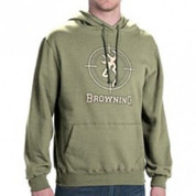BROWNING HOODIE HOODED SWEATSHIRT LODEN GREEN MEN'S SMALL