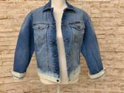 Wrangler Faded Jean Jacket Irregular