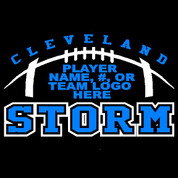 CLEVELAND - (Football-70) Car Decal (2 color)