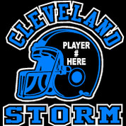 CLEVELAND - (Football-11) Car Decal (2 color)