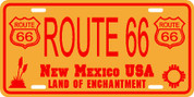 New Mexico (Rt-66) Plate
