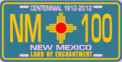 New Mexico (Cenntenial) Plate