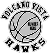 VOLCANO VISTA - (Basketball-11) CAR DECAL
