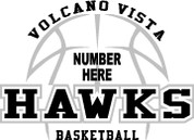 VOLCANO VISTA - (Basketball-12) CAR DECAL