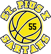 St Pius Sartans (Basketball-11-01) DRI-FIT LADY CUT