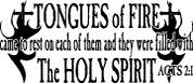 Tongues of Fire Acts 2:1 (Car Decal)