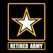 Army Retired - Car Decal