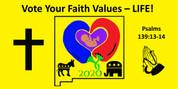 "Vote Your Faith -  CAR DECAL 4""x8"" (BULK PRICING)"