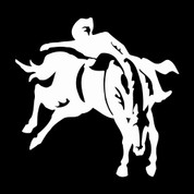 Bareback Rider-01 - Car Decal