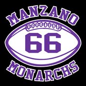 Manzano - Football-11-22 Car Decal 2clr