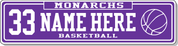 STREET SIGN - Monarchs Basketball
