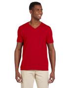 G64V Softstyle® 4.5 oz. V-Neck T-Shirt - Red