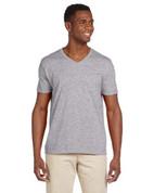 G64V Softstyle® 4.5 oz. V-Neck T-Shirt - Sport Grey