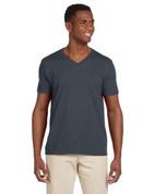 G64V Softstyle® 4.5 oz. V-Neck T-Shirt - Dark Grey