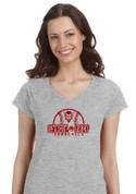 Sandia Prep SUNDEVILS (Baseball-12-02) Lady V-Neck T-SHIRT