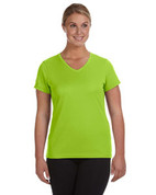 1790 100% Polyester DRI-FIT Lady V-Neck Short-Sleeve T-Shirt - Bright Green