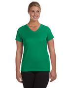 1790 100% Polyester DRI-FIT Lady V-Neck Short-Sleeve T-Shirt - Light Green