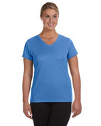 1790 100% Polyester DRI-FIT Lady V-Neck Short-Sleeve T-Shirt - Columbia Blue