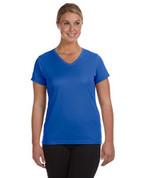 1790 100% Polyester DRI-FIT Lady V-Neck Short-Sleeve T-Shirt - Royal Blue