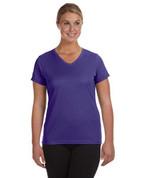 1790 100% Polyester DRI-FIT Lady V-Neck Short-Sleeve T-Shirt - Purple