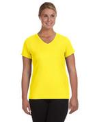 1790 100% Polyester DRI-FIT Lady V-Neck Short-Sleeve T-Shirt - Bright Yellow