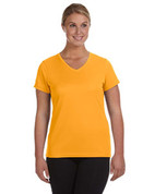 1790 100% Polyester DRI-FIT Lady V-Neck Short-Sleeve T-Shirt - Golden Yellow