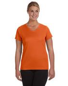 1790 100% Polyester DRI-FIT Lady V-Neck Short-Sleeve T-Shirt - Orange