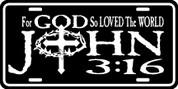 For GOD so Loved the World - John 3:16 - Plate