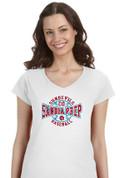 Sandia Prep SUNDEVILS (Baseball-23-01) Lady V-Neck T-SHIRT