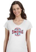 Sandia Prep SUNDEVILS (Baseball-23-02) Lady V-Neck T-SHIRT