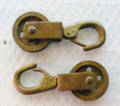 Vintage Hardware - Brass Rope Steering Pulleys - Pair