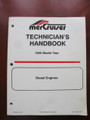 90-6536950 MERCURY MERCRUISER TECHNICIANS HANDBOOK DIESEL NEW 1995 MODEL YEAR