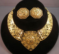 Barrera for Avon Goldtone Leaf Design Necklace and Earring Set