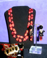 Hobe Red & Black Demi Parure