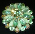 Peridot Green Vintage Brooch