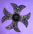 Jet Iron Cross Brooch