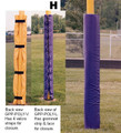 "Economy Goal Post Pads (4"" Pole)"