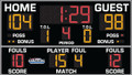 All American 8218 Basketball Scoreboard