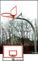 "Gared 4.5"" Gooseneck System W/ Steel 42' x 60' Backboard & Rec. & Park Fixed Rim"