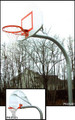 "Gared 4.5"" Gooseneck System W/ Steel Fan Backboard & Rec. & Park Fixed Rim"