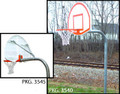 "Gared 3.5"" Gooseneck System W/ Steel Fan Backboard & Institutional Fixed Rim"