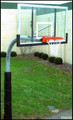 "Gared 5.56"" Gooseneck System W/ 42' x 60' Glass Backboard & 5500 Playground Breakaway"