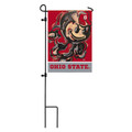Ohio State University, Suede GDN Justin Patten garden flag Fm