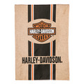 Enjoy a classic Harley-Davidson original garden-size flag imprinted with bar and shield logo on a polyester burlap fabric. Fade and weather resistant. Packaged in poly bag with header card. Flag pole sold separately (22001HD) Fade and weather resistant. Target Audience: unisex-adults Condition: New Part of our Burlap Boutique flag collection, flags are medium weight with a soft feel. Artwork is heat transferred to our polyester burlap material to offer brilliant color and non-fray durability. Flag is opaque (non-translucent) and does not illuminate in the sunlight. Flag poles are not included.