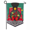 Christmas Train Small Garden Flag