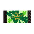 St. Patricks Day Shamrocks Sassafras Mat