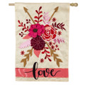 Valentine's Love Large House Flag
