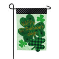 St. Patrick's Day Shamrocks Small Garden Flag